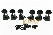 Black Straight Fixing Tag Guitar Tuners Tuning Keys for Acoustic or LP Les Paul