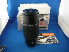 SMC PENTAX-A 70-210mm F4 MACRO ZOOM LENS W/CAPS, BOX