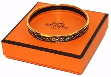 Authentic HERMES bangle Bracelet Emaire PM cloisonne ware (281009)