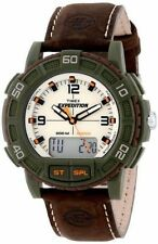 Timex T49969, Men's Expedition Leather Combination Watch, Indiglo, Date, T49969J