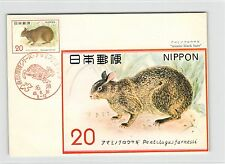JAPAN MK 1974 FAUNA HASE INDIAN RABBIT BLACK HARE CARTE MAXIMUM CARD MC CM d9263