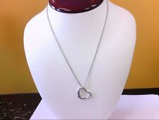 "Pre Owned Tiffany & Co 925 Elsa Peretti Open Heart Pendant w/ 17"" Chain. BUY NOW"