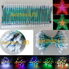 100pcs WS2811 Digital RGB Pixel 12mm LED String Module IP68 Waterproof 12V Green
