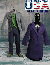 1/6 Joker Heath Ledger Costume Suit Set For DX01 DX11 Hot Toys - U.S.A. SELLER
