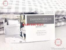 Charter Club Damask Designs 500 Thread Count QUEEN Sheet Set Gingham Dove