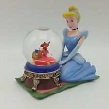 "Cinderella Knelling Mice Slipper Pillow Disney 4"" Snow water Globe Domes"