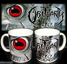tazza mug music OBITUARY cause of death,rock, metal scodella ceramica