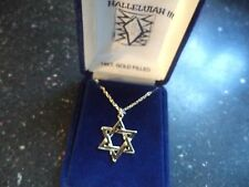"""Star of David 14kt. Gold Filled Necklace 16"""" DC Rope Chain"""