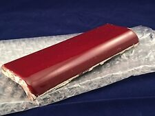 4 Pc Vintage Clay Tile 2x6 Red Burgundy Gloss Bullnose Edge Trim Mexican