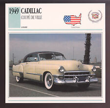 1949 Cadillac Coupe De Ville Car Photo Spec Sheet Info Stat ATLAS CARD Deville