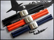 20mm Orange Silicon Rubber Dbl Lock Deploy Dive watchband IW SUISSE 22 USA Ship