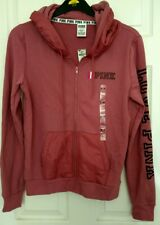 BNWT Victoria's Secret Pink Love Medium Hoodie full Zip top Jacket M UK 10