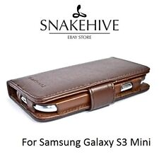 SNAKEHIVE® Premium Leather Wallet Flip Case Cover for Samsung Galaxy S3 Mini