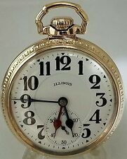 Beautiful 16s 21j illinois bunn special pocket watch 60 hour