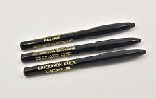 3 Lancome Le Crayon Khol Eyeliner Pencil Brabd New Black Ebony Travel Size