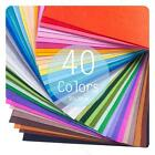 40 Colors Felt Sheets DIY Craft Supplies #S Polyester Fabric 30x30cm