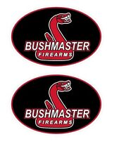 2 BUSHMASTER Firearms Decal Stickers AR 15 223 5.56 Assault Rifle Gun