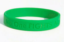 "Kelly Green Gallbaldder/Bile Duct Cancer Wristband - YOUTH Sized (6 3/4"")"