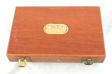"7.1/2"" x 5 Whetley Mahogany Fly storage case with 40 double hook salmon flies"