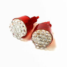 2x Red 12-LED [3156] Large Wedge 12v Stop/Brake Light Bulbs