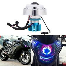 Hot! 12V LED Projector Kit Hi/Low Beam Headlight For Motorcycle Angel Devil Eyes