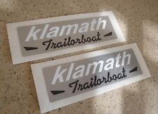Klamath Trailorboat Vintage Fish Boat Decals 2-PK FREE SHIP + Free Fish Decal!