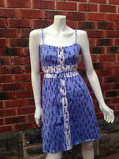 NWOT purple love heart dress COOPER ST size10 swing rockabilly retro vintage 50s