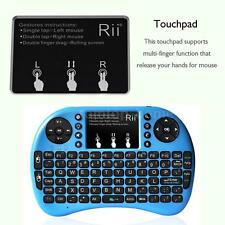 Rii i8 2.4G Mini Wireless Keyboard with Backlit Touchpad for Smart TV HTPC Blue
