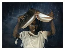 African American Art Print -Sheltered 24 x 32 - Edwin Lester