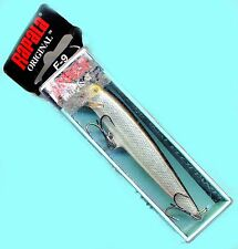 "Vintage (Ireland) Rapala Silver Floating 3-1/2"" Balsa Fishing Lure (F09-S)"