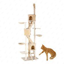 Deluxe Adjustable Huge Cat Tree Toy Condo Furniture Kitten Hammock House Beige