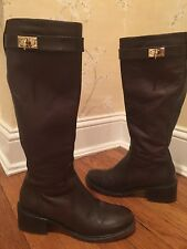 GIVENCHY SHARK TOOTH BROWN BOOTS, size 7.5