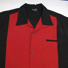 STEADY LAST CALL V8 CAR RACING CASINO STYLE METAL BUTTON UP BOWLING SHIRT Sz 2X