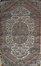 Persian Rug Style Paisley Art Silk Woven Small Termeh Raw Tapestry Wall Hanging