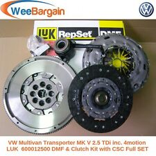 Vw Transporter T5 Mk V 2.5 Tdi Luk 600012500 Doble masa Volante Y Embrague Kit