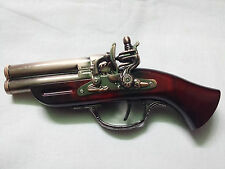 Gun shaped Cigarette Lighter Gas Refillable with Antique Look with stand
