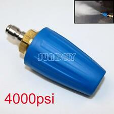 """4000PSI/276BAR Pressure Washer Blue Rotating Turbo Nozzle With 1/4"""" Quick Plug"""