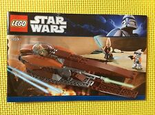 New Lego Instruction Manual ONLY Star Wars Geonosian Starfighter 7959