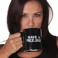 Ceramic Middle Finger Coffee Cup Personality Office Gift Have A Nice Day Mug