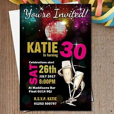 10 Personalised 18th 21st 30th 40th 50th 60th Birthday Party Invitations N184