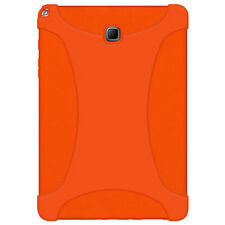 For Samsung Galaxy Tab A 8.0 Rugged Silicone Skin Fit Jelly Case Cover - Orange