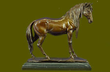 Arabian Horse Bronze Sculpture Statue By P.J Mene Hot Cast Marble Figurine
