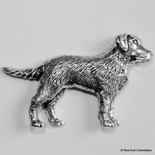Retriever Pewter Pin Brooch - British Hand Crafted - Labrador Gun Dog Hunting