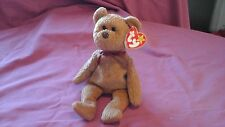TY beanie babies Curly the brown bear April 12th 1996