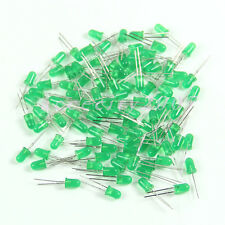 New Super Bright 5MM 100pcs LED Green Color Bulb Lamp Green Light