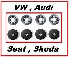 VW Befestigung Clip Skoda Audi Fußmatten + Gummimatten Autoteppich RUND - 4 St.