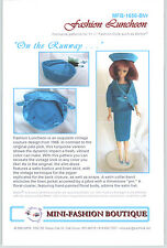 Vintage Repro Pattern FASHION LUNCHEON Couture 4 Barbie Fashion Rylty MFB RUNWAY