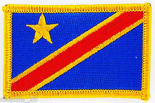 PATCH ECUSSON BRODE DRAPEAU CONGO RDC INSIGNE THERMOCOLLANT NEUF FLAG PATCHE