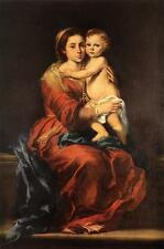 Stunning Oil painting Bartolomé Esteban Murillo - Virgin and Child with a Rosary
