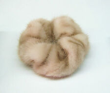Hand made new REAL natural MINK FUR scrunchie/hair tie/ponytail holder/elastic